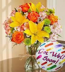 get better soon flowers get well soon bouquet w mylar includes a get well soon mylar