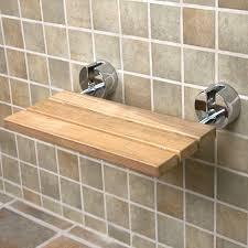 Concertina Shower Curtain Teak Modern Folding Shower Seat Bathroom