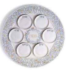 seder plates for sale passover seder plate nitsanim made by shraga landesman