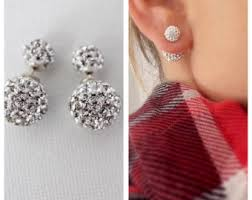 sided stud earrings stud earrings etsy in