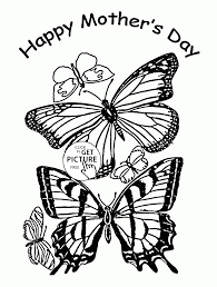 butterflies for mother u0027s day coloring page for kids coloring