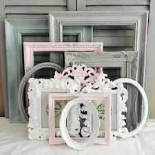 custom frames set 10 ornate large frames pink grey nursery