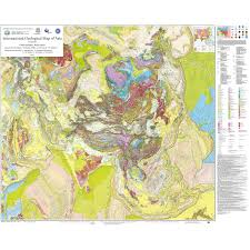Central Asia Map by International Geological Map Of Asia At 1 5 M Igma Ccgm Cgmw