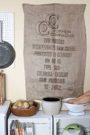 How To Sew Burlap Curtains Diy Burlap Coffee Sack Art U2013 Ricedesigns