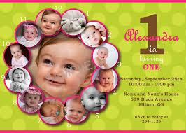 Example Of Invitation Card For Birthday 1st Year Birthday Invitation Vertabox Com