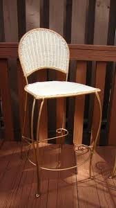 Wrought Iron Bar Stool Gilt Wicker Wrought Iron Bar Stools A Pair U2013 Abby Essie