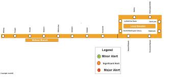 Cta Map Red Line Cta Rail Service Alerts Cta Rail Chicago Transit Forum