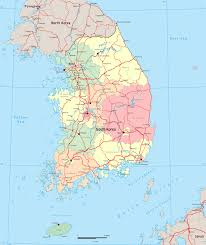 Map Of South Asia by South Korea Map Seoul Asia