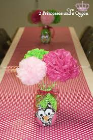 owl centerpieces owls pink green birthday party ideas photo 5 of 13 catch my