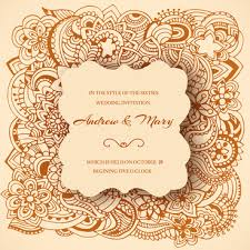 vector wedding invitation ornament free vector 11 695