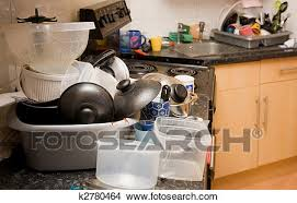 vaisselle cuisine banque de photo cuisine sale désordre vaisselle k2780464