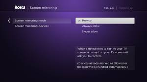 roku article use screen mirroring with your mobile device