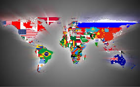 Little Dipper Flag World Map With Flags For Country Colours 1680x1050 Mapporn