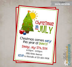 Invitation Cards For Christmas Printable Christmas In July Party Invitation