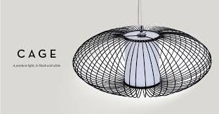 black and white pendant lights cage pendant light in black and white review designer gaff uk
