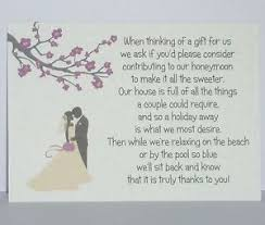 wedding gift honeymoon fund blossom silhouette wedding gift poem cards honeymoon money ebay