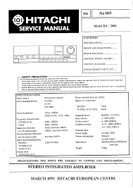 hitachi ha2000 service manual immediate download