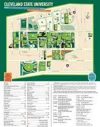Cleveland Map Cleveland State University Campus Map U2022 Mapsof Net