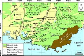 Provence France Map by New Structural Constraints On The Southern Provence Thrust Belt