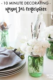 jar centerpieces and easy jar centerpieces setting for four