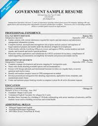 Resume Objective Examples For Government Jobs by Government Resume Template Berathen Com