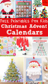 13 free printable christmas advent calendars for kids easy to