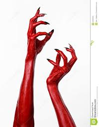 halloween white background red devil u0027s hands with black nails red hands of satan halloween