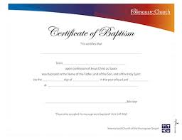 christening certificate template leadership tools printed resources foursquare certificates