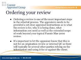 Appraisal Rebuttal Letter appraisal related repurchases