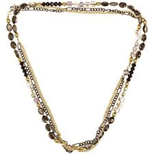 chain necklace with beads images Glass crystal beaded necklaces beads and dangles jpg