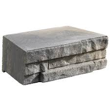 Interlocking Concrete Blocks Lowes by Shop Ledgewall Tan Charcoal Patio Stone Common 7 In X 12 In