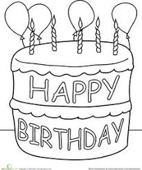 Birthday Coloring Pages Worksheets Birthdays And Happy Birthday Birthday Cake Coloring Pages