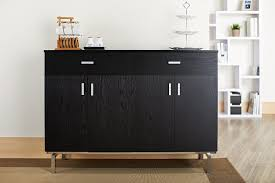 amazon com iohomes knox 2 doors buffet black buffets u0026 sideboards