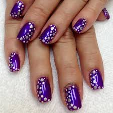 purple and gold sequin nails studded purple nail art tutorial