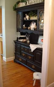 remarkable country kitchen hutch plans with best black paint color