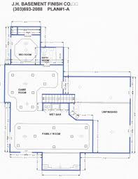 How To Design A Basement Floor Plan Awesome Design Finished Basement Floor Plans Amazing And Ideas