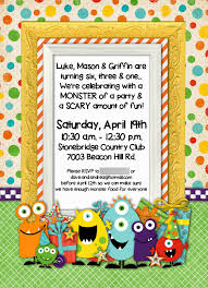 monster invitation momfessionals monster of a party
