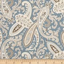 covington ballard paisley blue discount designer fabric fabric com