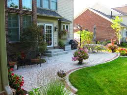 Concrete Patio With Pavers Extend Concrete Patio With Pavers Backyard Concrete Patio Ideas