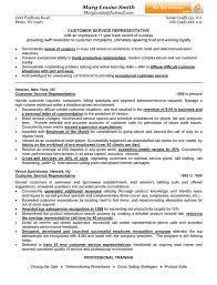 resume for customer service customer service representative resume exle sle of resume