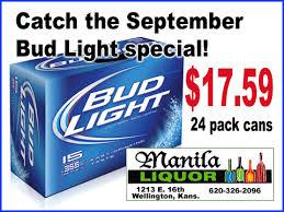 Manila Liquor Is Having A September Bud Light Special Sumner Newscow