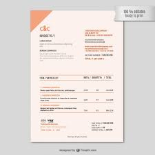 Florist Invoice Template by Invoice Template Vector Free