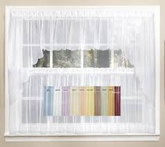 kitchen curtains emelia sheer solid kitchen curtain available in 11 colors