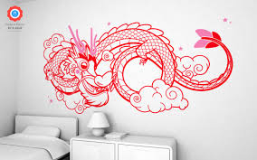 dragon xxl wall decal nursery kids rooms wall decals kids room lucky dragon wall decals xxl