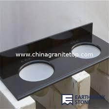 Granite Bathroom Vanity Top by Absolute Black Granite Bathroom Vanity Top With Double Sinks For