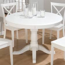 Inch Round White Pedestal Table - Tropical dining room sets counter height