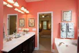bathroom color idea this bright coral colored bathroom would be with the