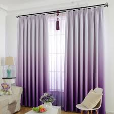 Solid Color Curtains Window Curtain For Kids Bedroom Solid Color Gradient Blackout