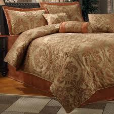Rust Comforter Set Halifax Gold 7 Piece Luxurious Look Comforter Set King
