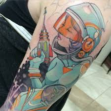 wip 3 sessions left space lady sleeve by teresa sharpe at studio